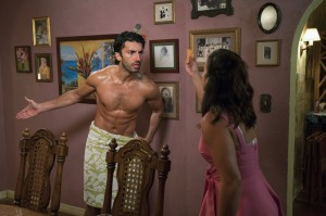"""Jane The Virgin -- """"Chapter Sixty-Five"""" -- Image Number: JAV401a_0374.jpg -- Pictured (L-R): Justin Baldoni as Rafael and Gina Rodriguez as Jane -- Photo: Michael Desmond/The CW -- © 2017 The CW Network, LLC. All Rights Reserved."""